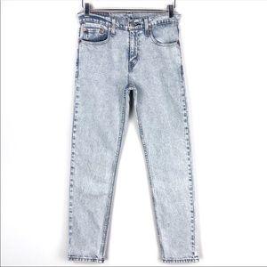 Levi's 512 high rise slim fit stonewash jeans